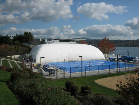 "Pool Bubbles: Swimming in ""Free-dome"" Air-Supported Structures Domes ..."